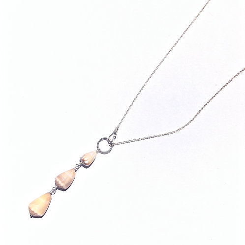 Sterling Silver 3 Hawaiian Cone Shell Necklace