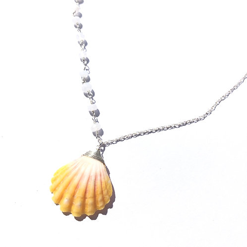 Sterling Silver Hawaiian Sunrise Shell Necklace(2)