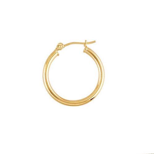 """14K Yellow Gold"" 20mm Round / 2mm Tubing Hoop Earrings"