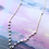 Thumbnail: 14KGF Hawaiian Cone Shell Silverite Link Lariat Necklace