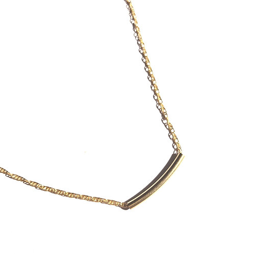 "14KGF Bar Necklace 15""-17"""