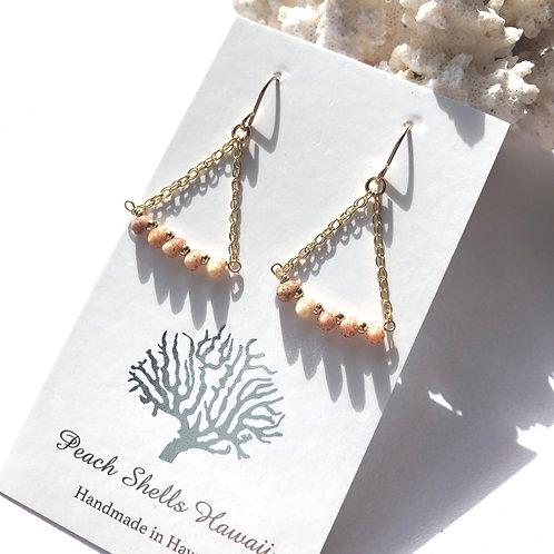 14KGF Kauai Kahelelani Shell Earrings