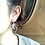 Thumbnail: 14KGF Lotus Crystal Quartz Earrings