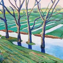 Hoog water bij de Lekdijk