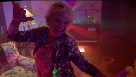 A lovely granny who accidentally takes the wrong pills making her go on a fun disco-like trip.