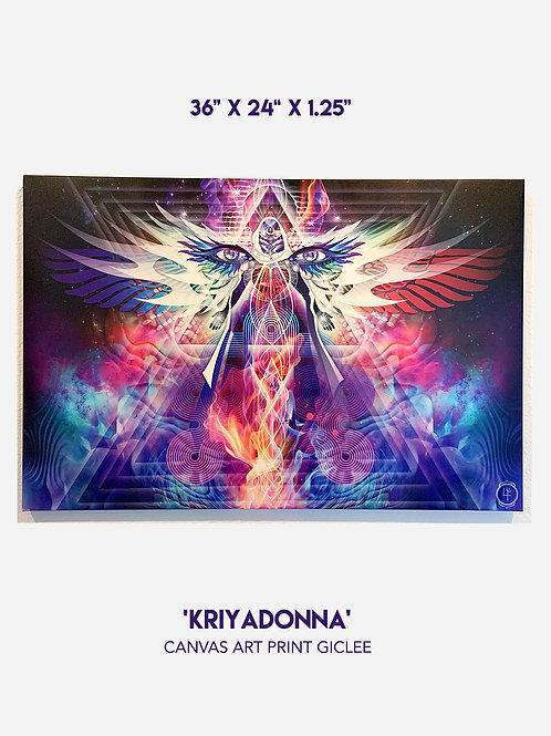 "'Kriyadonna, Queen of Heaven' 36"" x 24"" Canvas Art Print Giclee"