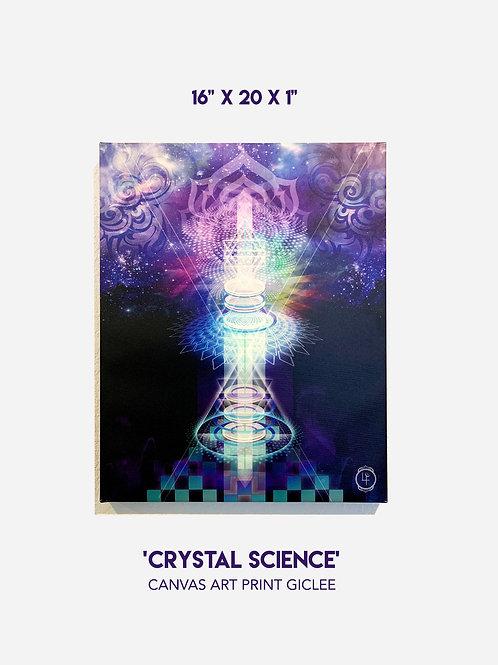 "'Crystal Science' 16""x 20"" Canvas Art Print Giclee"