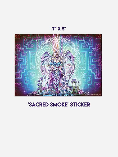 """Sacred Smoke Jumbo Vinyl Art Sticker 7"""" x 5"""""""