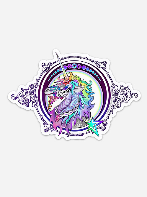 "Rainbow Unicorn Jumbo Art Sticker  6"" x 4.09"""