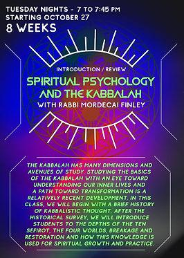 Intro Spiritual Psych and Kabbalah 2020.