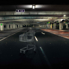 Shopping Trolly, Car Park. Midnight..jpg