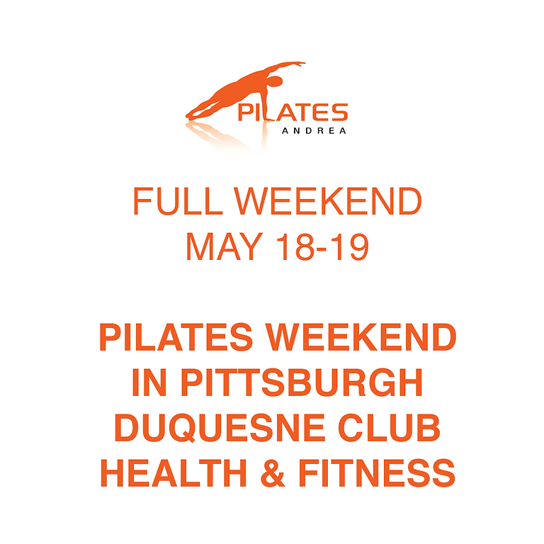 PILATES ANDREA - WEEKEND IN PITTSBURGH