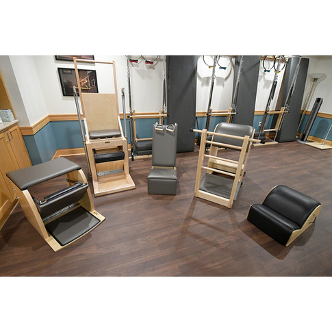 Pilates Chairs and Barrels