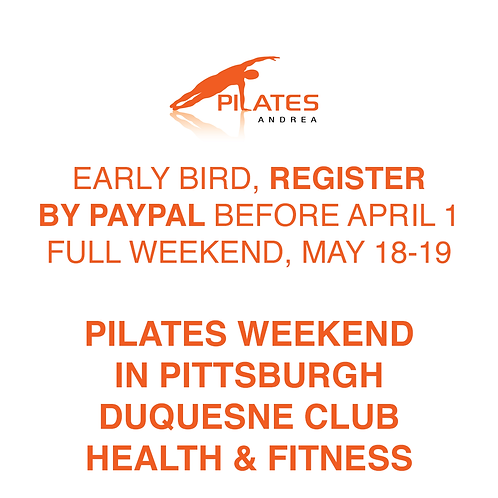 PILATES ANDREA - Early Bird - PayPal (before April 1), Full Weekend