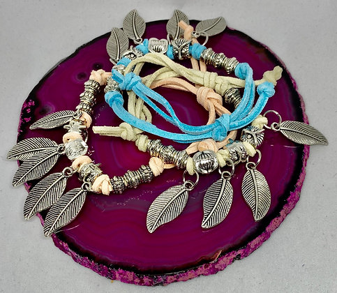 Boho Feathers Tassel Bracelet