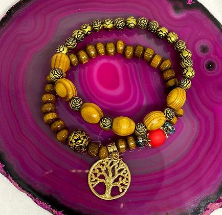 Boho Earthy Bracelet Set
