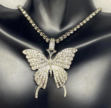 Butterfly Diamond Necklace
