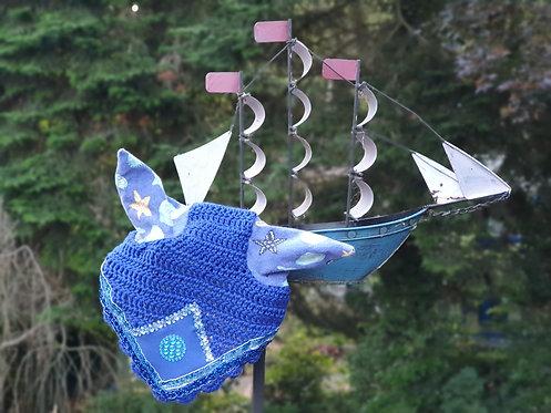 Fliegenmütze Shetty maritim