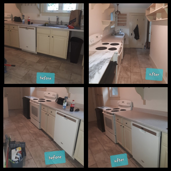 Flat rate basic & deep cabinet cleaning package's