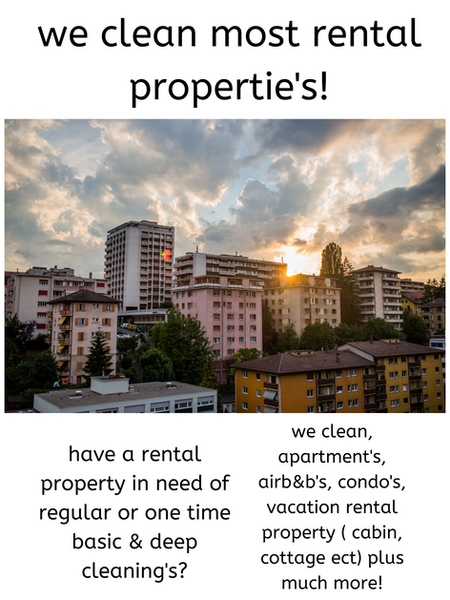We clean rental propertie's