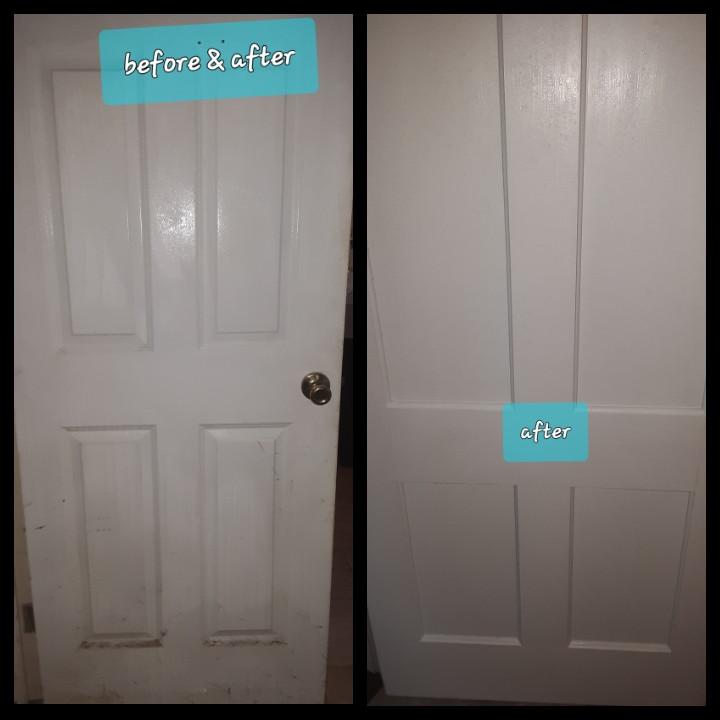 Flat rate single door cleaning package