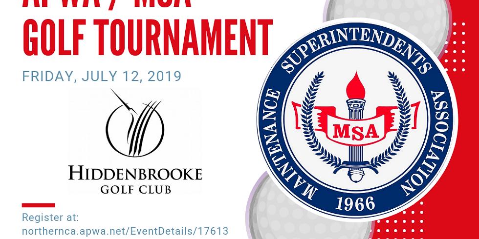 MSA / APWA Golf Tournament