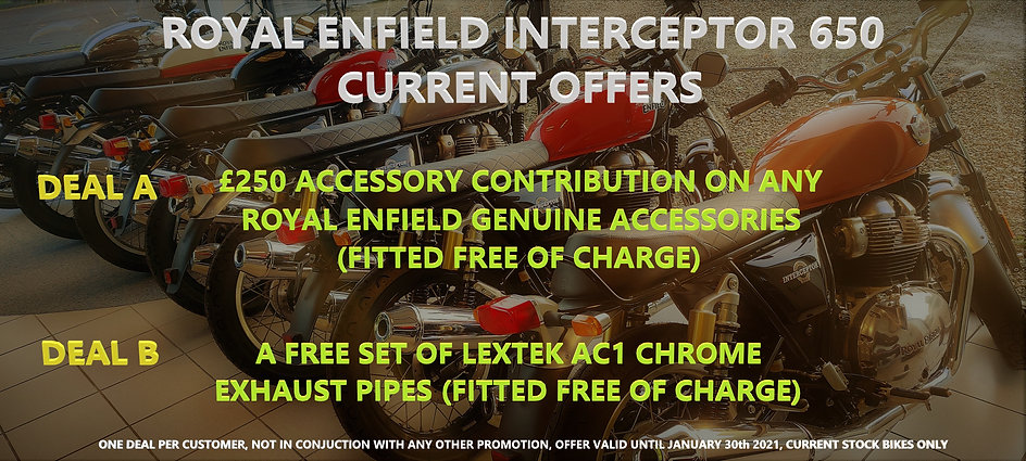 Royal Enfield Interceptor 650 offers!