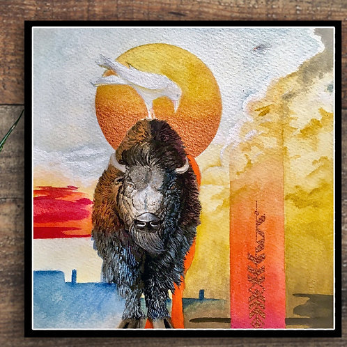 White Crow and Bison Limited print