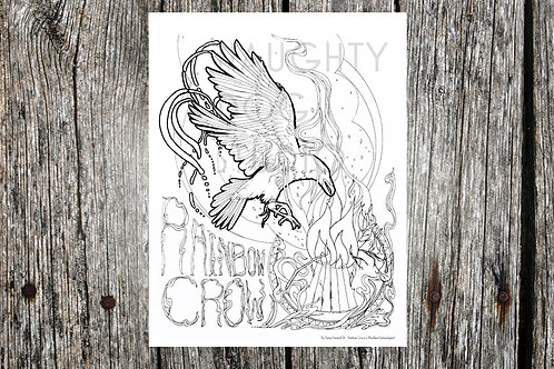 Rainbow Crow Coloring Page