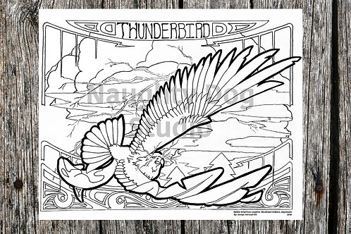 Thunderbird Coloring Page
