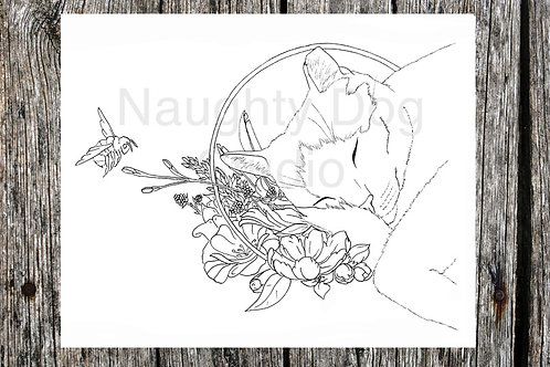 Save the Bees Coloring page