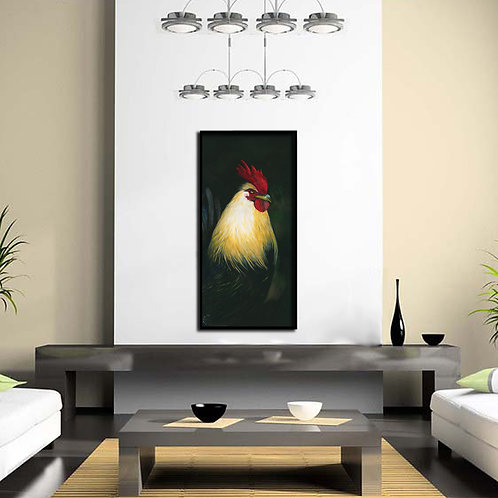 Rooster watercolor Print