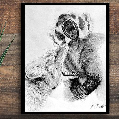 Badger and Fox Line art