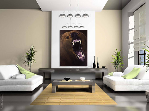 I Am Not A Monster- Life sized Grizzly Bear Painting