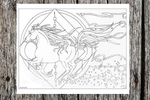 Moon Horse Coloring Page