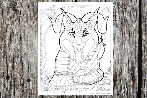 Underwater Panthor Coloring Page