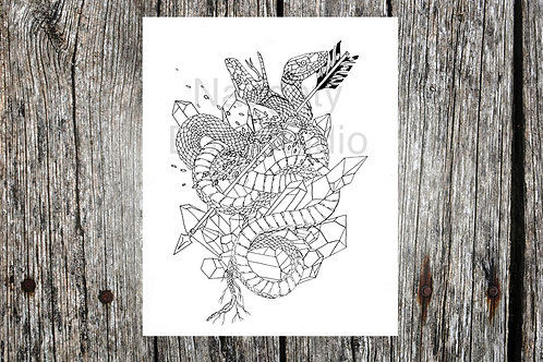 Snake coloring page