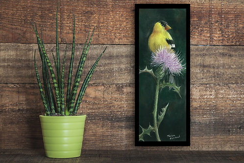 Gold Finch and Thistle print