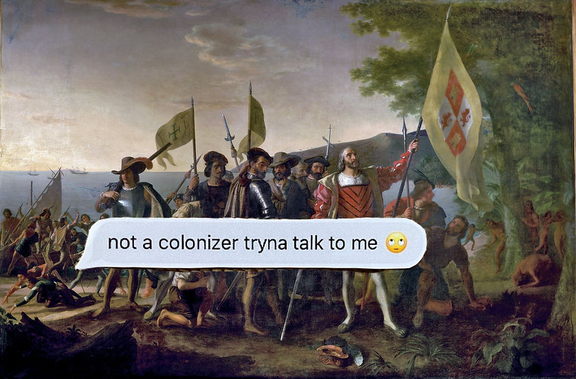 not a colonizer sticker