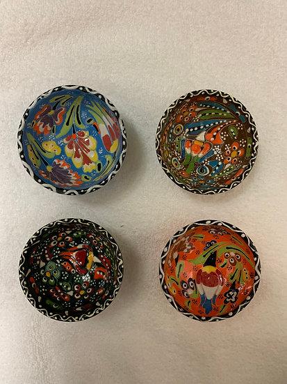 Handmade Turkish Ceramic Bowls (Set of 4)