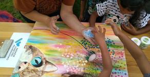 Farní charita Kamenice nad Lipou - mezigenerační malování