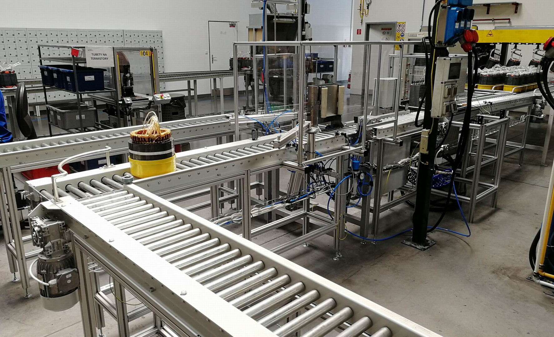 Kapacitní linka výroby statorů