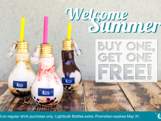 Welcome Summer with Free Drinks!