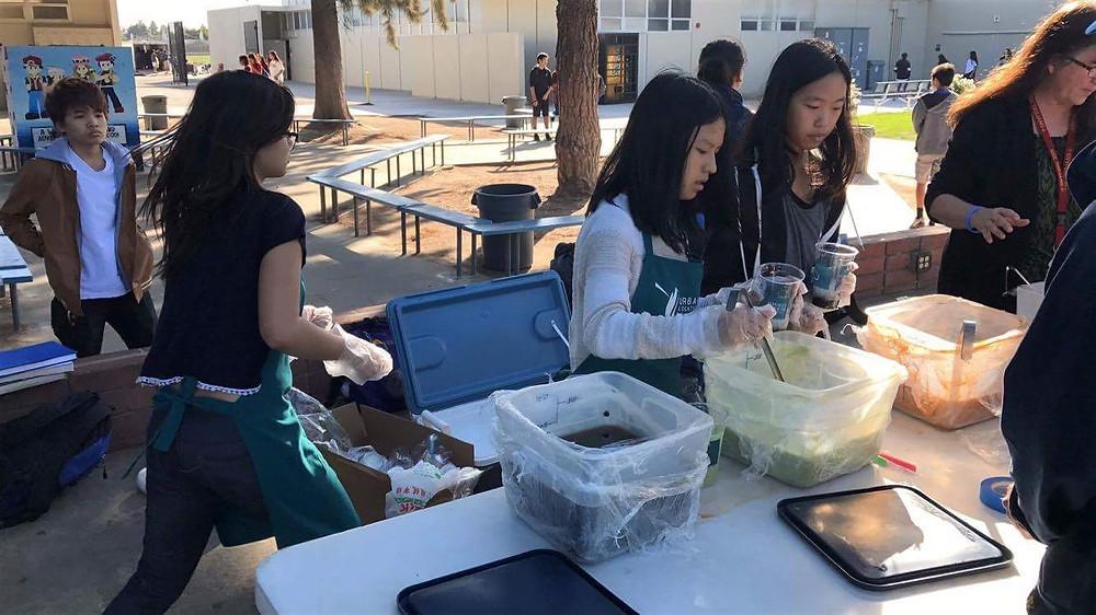 La Quinta High School Students Serving Urban Location Drinks