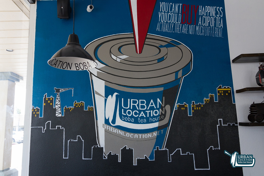 Urban Location Boba Wall Art