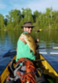 Ed With Boundary Waters Smallmouth Bass