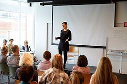 Deanne Voysey presenting corporate health