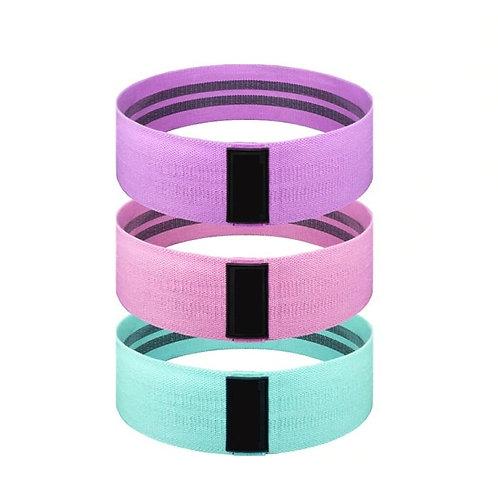 Set of Three Pastel Fabric Loop Resistance Bands