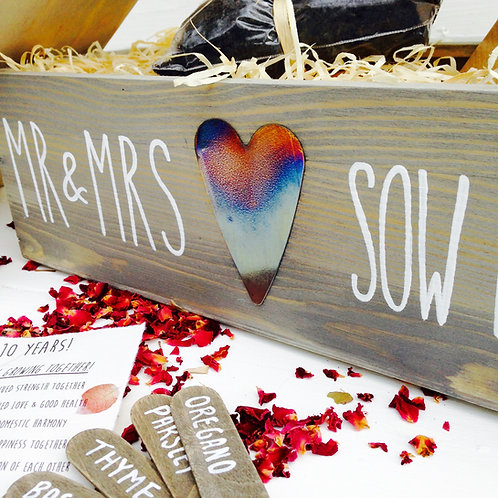 Personalised Heart 10th Anniversary Herb Garden