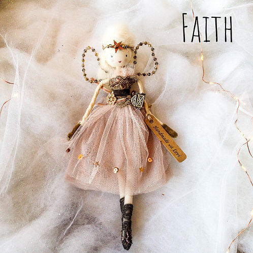 Vintage style handcrafted tooth/ Christmas fairy